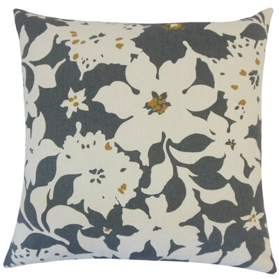 Ogima Floral Cotton Throw Pillow Size: 18 H x 18 W x 5 D