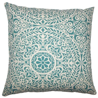 Kiasax Damask Throw Pillow Size: 18 H x 18 W x 5 D, Color: Teal