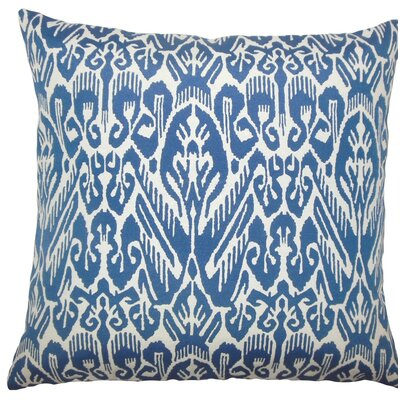 Jyotika Ikat Throw Pillow Size: 18 H x 18 W x 5 D, Color: Indigo
