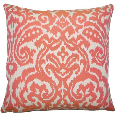Wafai Ikat Throw Pillow Size: 18 H x 18 W x 5 D, Color: Coral