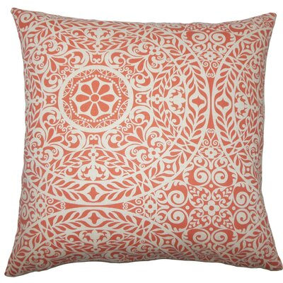 Kiasax Damask Throw Pillow Size: 20 H x 20 W x 5 D, Color: Mango