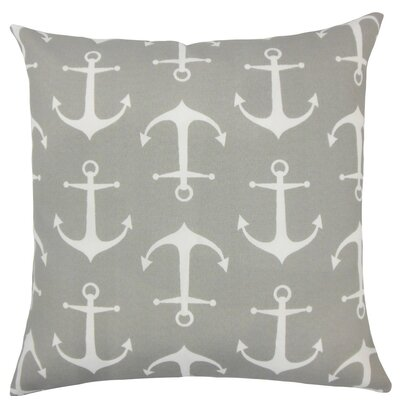 Halleli Coastal Throw Pillow Size: 18 H x 18 W x 5 D, Color: Gray