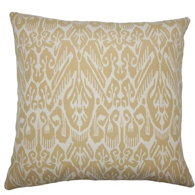 Jyotika Ikat Throw Pillow Size: 18 H x 18 W x 5 D, Color: Barley