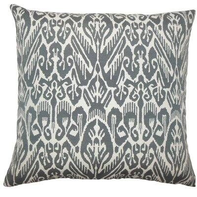Jyotika Ikat Throw Pillow Size: 18 H x 18 W x 5 D, Color: Ash