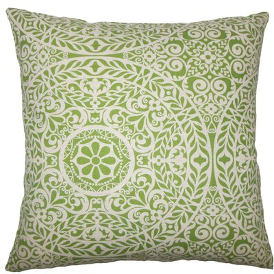 Kiasax Damask Throw Pillow Size: 20 H x 20 W x 5 D, Color: Palm