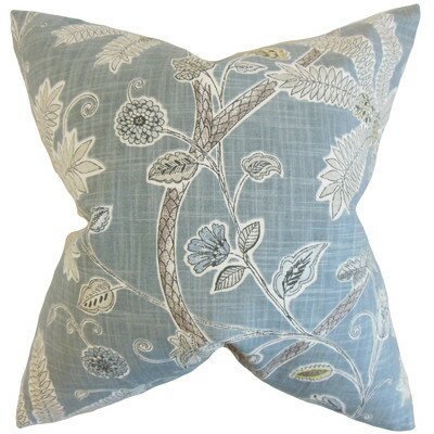 Goldenrod Floral Pillow Cover