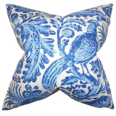 Cleveland Floral Floor Pillow Color: Blue