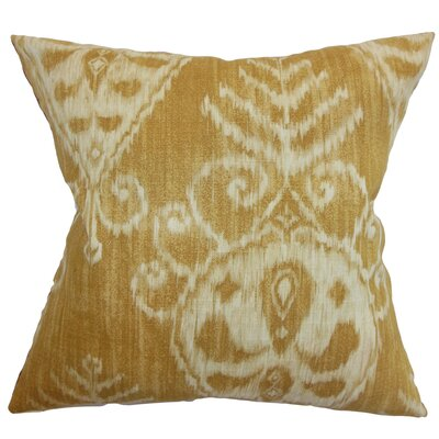Diahna Ikat Floor Pillow Color: Dijon