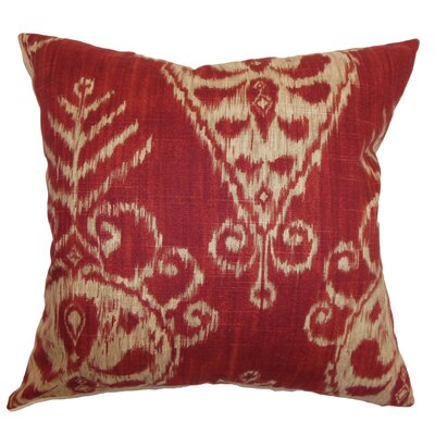 Diahna Ikat Floor Pillow Color: Ruby