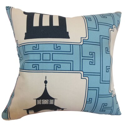 Diamanta Geometric Floor Pillow Color: Aqua