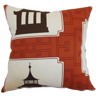 Diamanta Geometric Floor Pillow Color: Persimmon