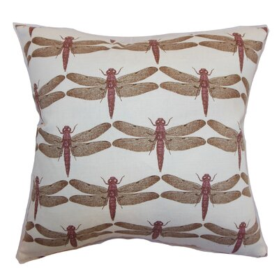 Melody Dragonfly Floor Pillow Color: Lavender