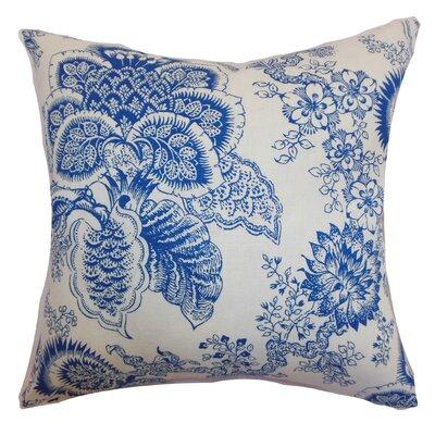 Blondene Floral Floor Pillow Color: Blue