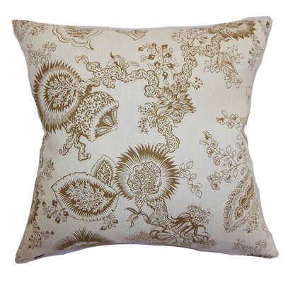 Blondene Floral Floor Pillow Color: Cocoa