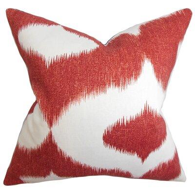 Britannia Ikat Floor Pillow Color: Cherry Red