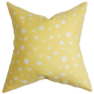 Buschwick Dots Floor Pillow Color: Yellow/White