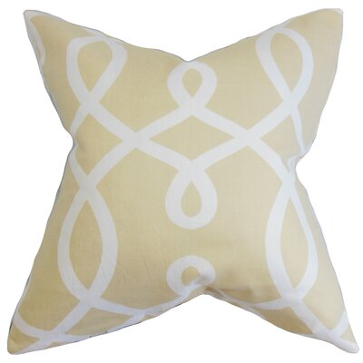Chamblin Geometric Floor Pillow Color: Neutral
