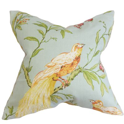Jennifer Floral Floor Pillow Color: Blue/Green