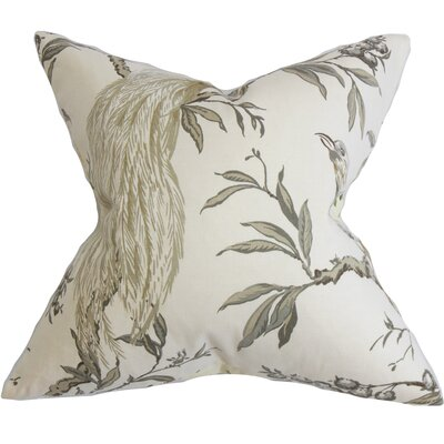Jennifer Floral Floor Pillow Color: Green/White