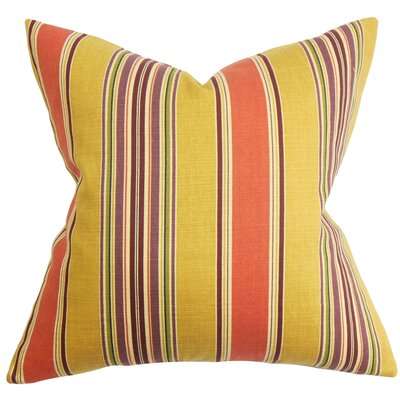 Ashprington Stripes Floor Pillow Color: Orange Yellow