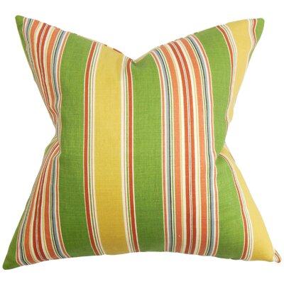 Ashprington Stripes Floor Pillow Color: Green/Yellow