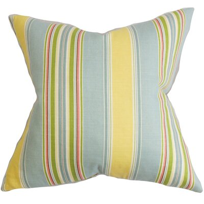 Ashprington Stripes Floor Pillow Color: Blue/Yellow