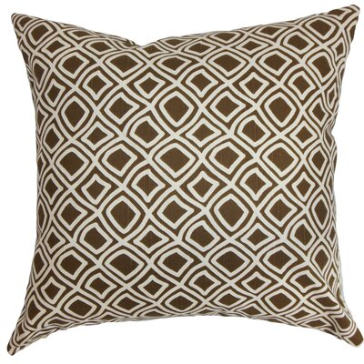 Cassity Geometric Floor Pillow Color: Brown