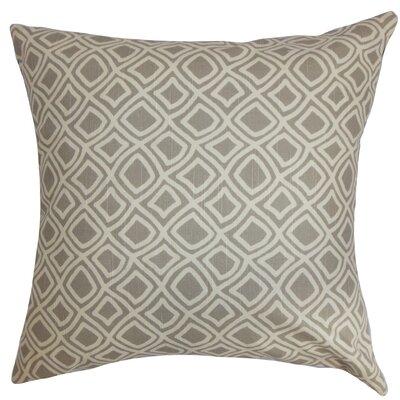 Cassity Geometric Floor Pillow Color: Gray