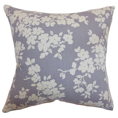 Perillo Floral Floor Pillow Color: Lavender