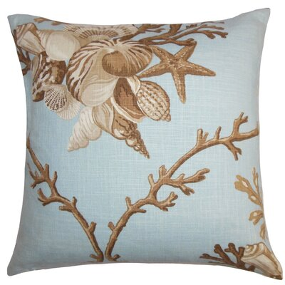Ramsgate Coastal Floor Pillow Color: Blue/Brown