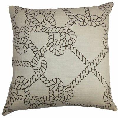Aragon Coastal Floor Pillow Color: Natural/Black