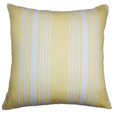 Sharpe Stripes Floor Pillow Color: White/Yellow