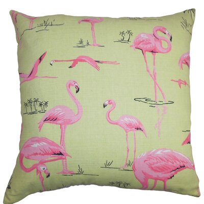 Colleen Animal Floor Pillow Color: Green/Pink