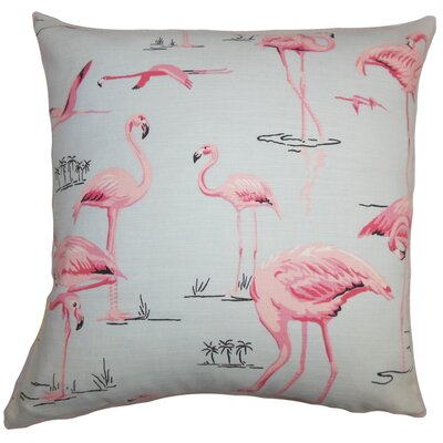 Colleen Animal Floor Pillow Color: Blue/Pink