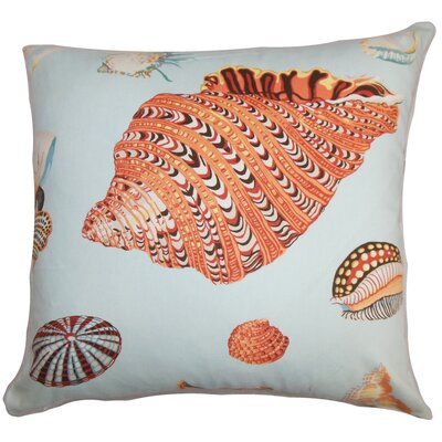 Savona Coastal Floor Pillow Color: Orange/Blue