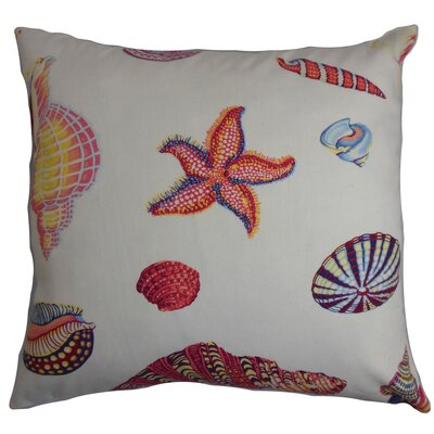 Savona Coastal Floor Pillow Color: White/Pink