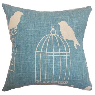 Megan Birds Floor Pillow Color: Aquadisiac