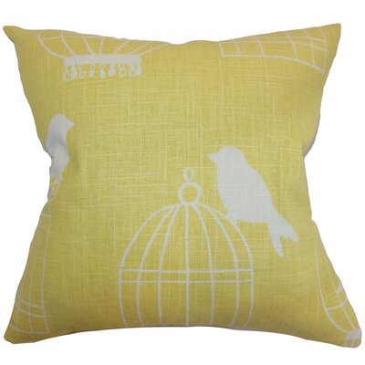 Megan Birds Floor Pillow Color: Canary