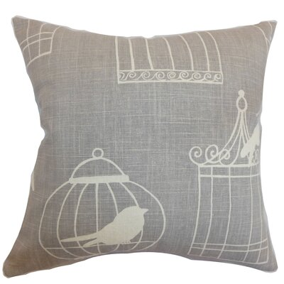 Megan Birds Floor Pillow Color: Smoke