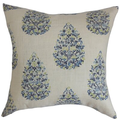 Peralta Floral Floor Pillow Color: Blue/Green