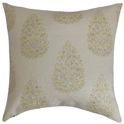 Peralta Floral Floor Pillow Color: Lemon Grass