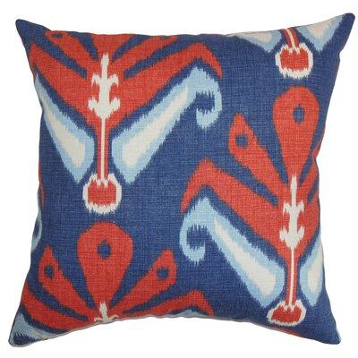 Sefton Ikat Floor Pillow Color: Blue/Red