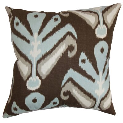 Sefton Ikat Floor Pillow Color: Aqua/Cocoa