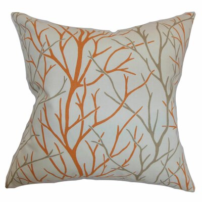 Renoir Trees Floor Pillow Color: Tangerine