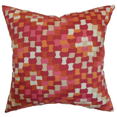 Clarence Geometric Floor Pillow Color: Berry
