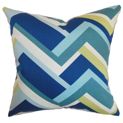 Armona Geometric Floor Pillow Color: Aqua/Green