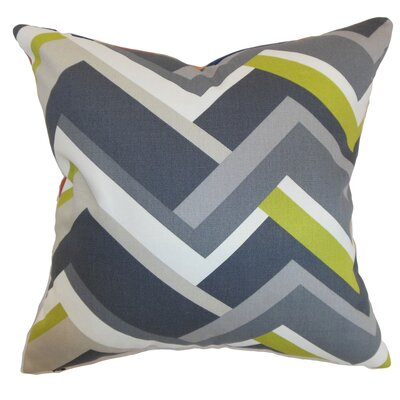 Armona Geometric Floor Pillow Color: Gray
