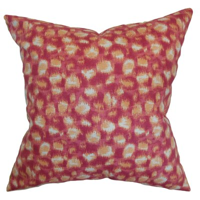 Kibby Geometric Floor Pillow Color: Azalea