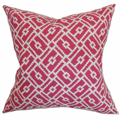 Nestor Geometric Floor Pillow Color: Azalea