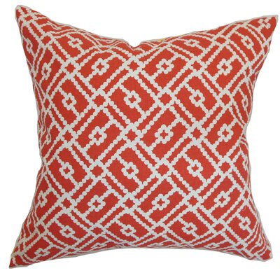 Nestor Geometric Floor Pillow Color: Berry